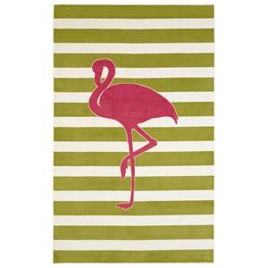 Fancy Flamingo Pink 5 ft. x 8 ft. Area Rug