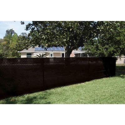 68 in. x 50 ft. Mesh Fabric Privacy Fence Screen  with Integrated Button Hole in Black