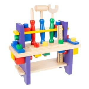 Kids Pretend Play Toy Workbench and Tool Set