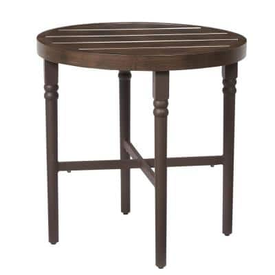 Lemon Grove Wicker Round Outdoor Bistro Table