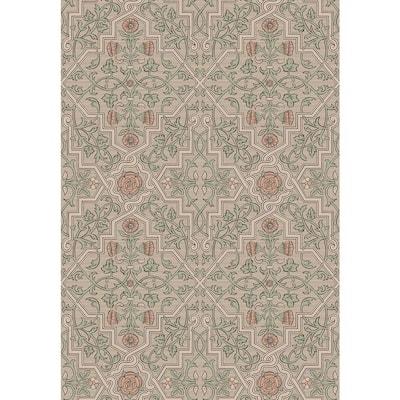 Rosenvinge Light Brown Ironworks Light Brown Wallpaper Sample