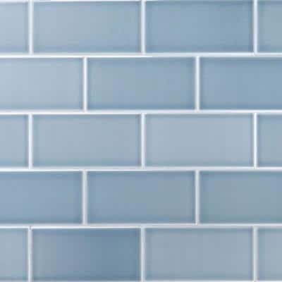 Magnitude Blue 4 in. x 8 in. x 7.5mm Polished Ceramic Subway Wall Tile (68 pieces / 14.63 sq. ft. / box)