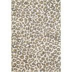 Sebastian Leopard Print Beige 8 ft. x 10 ft. Area Rug