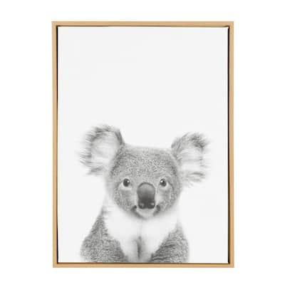 """33 in. x 23 in. """"Koala II"""" by Tai Prints Framed Canvas Wall Art"""