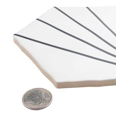 Palm Starburst Hex White 6 in. x 7 in. Porcelain Floor and Wall Tile (2.97 sq. ft./Case)