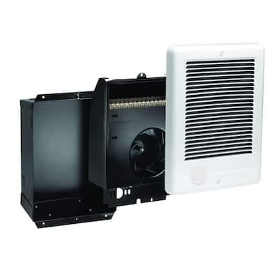 Com-Pak 1500-Watt 240-Volt Fan-Forced In-Wall Electric Heater in White, No Thermostat