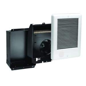 Com-Pak 1,000-Watt 240-Volt Fan-Forced In-Wall Electric Heater in White, No Thermostat