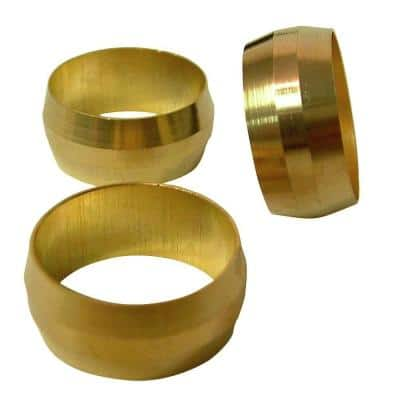 1/4 in. Compression Brass Sleeve Fittings (25-Pack)