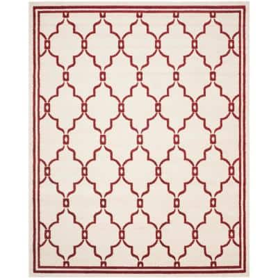 Amherst Ivory/Red 9 ft. x 12 ft. Area Rug