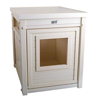 ECOFLEX® Litter Box Cover End Table in Antique White