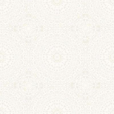 Marrakech Cream Medallion Cream Wallpaper Sample