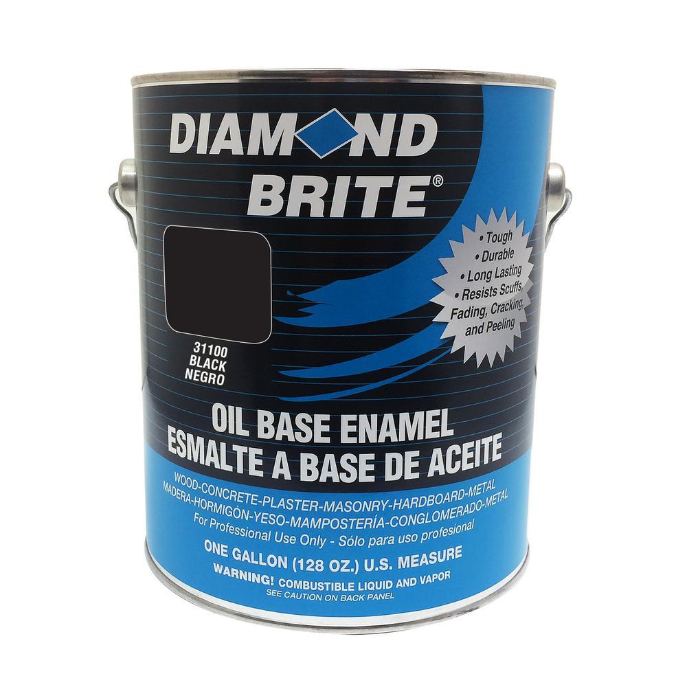 1 gal. Black Oil Base Enamel Interior/Exterior Paint