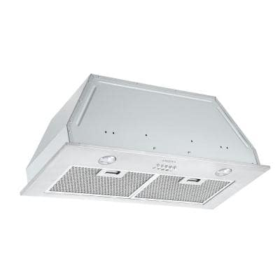 28 in. 420 CFM Ducted Built-In Range Hood with Halogen in Stainless Steel