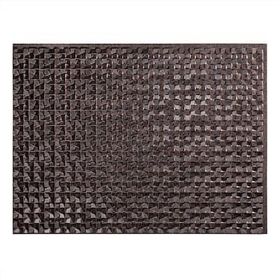 18.25 in. x 24.25 in. Terrain Vinyl Backsplash Panel in Smoked Pewter (5-Pack)