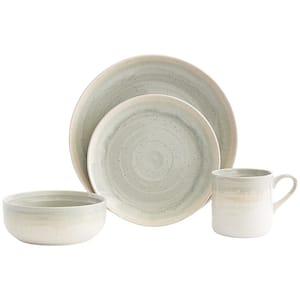 Hearth 16-Piece Casual Seafoam Ceramic Dinnerware Set (Service for 4)
