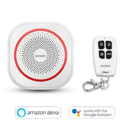 Wi-Fi Wireless Smart Home Security Alarm System Strobe LED Flashing - DIY Easy Installation-90 DB-Smart Phone Compatible
