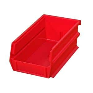 Akro Mils Shelf Bin 10 Lbs 11 5 8 In X 4 1 8 In X 4 In Storage Tote In Red With 0 5 Gal Storage Capacity 30120red The Home Depot
