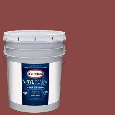 5 gal. #HDGR64 Rusty Red Low-Lustre Exterior Paint with Primer