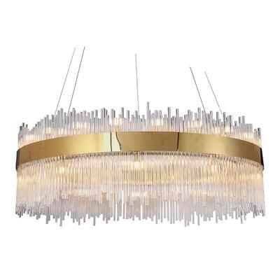 Ermias I 18-Light Gold Crystal Chandelier