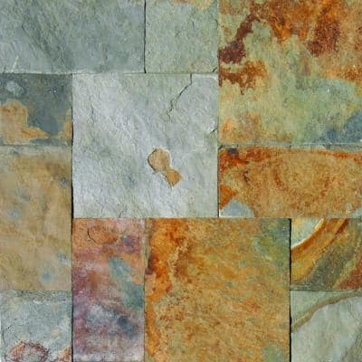 Three Rivers Gold Pattern Gauged Slate Floor and Wall Tile (5 kits / 80 sq. ft. / pallet)