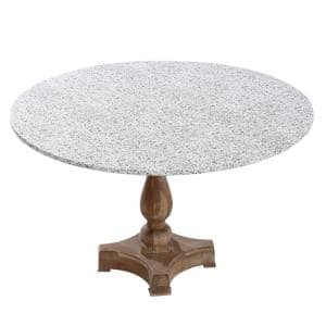 42'' Cotton Fabric Fitted Table Cover, Grey Granite