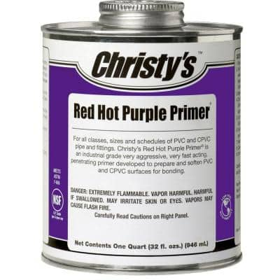 32 oz. Red Hot Purple Primer for PVC CPVC (Case of 12)