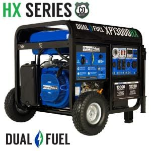 13000/10500-Watt Dual Fuel Electric Push Start Gasoline/Propane Portable Generator with CO Alert Shutdown Sensor