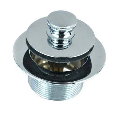 1.865 in. Overall Diameter x 11.5 in. Threads x 1.25 in. Lift and Turn Bathtub Closure in Chrome Plated