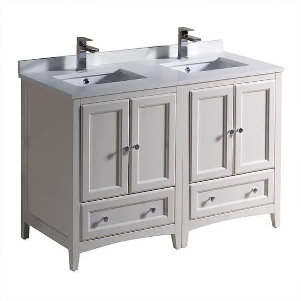 Fresca Oxford 48 In Double Vanity, Double Sink 48 Inch Bathroom Vanity