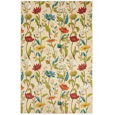 Spiced Beauties Multi 5 ft. x 8 ft. Floral Area Rug