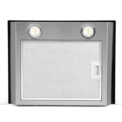 36 in. 480 CFM Convertible Wall Mount Range Hood in Stainless Steel with Mesh Filter, Touch Control, LED Lights