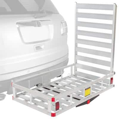 500 lbs. Hitch-Mounted Mobility Scooter Carrier Rack & Ramp