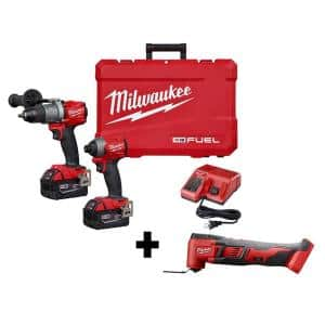 M18 FUEL 18-Volt Lithium-Ion Brushless Cordless Hammer Drill and Impact Driver Combo Kit (2-Tool) W/ Free M18 Multi-Tool