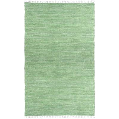 Green Chenille 5 ft. x 8 ft. Area Rug