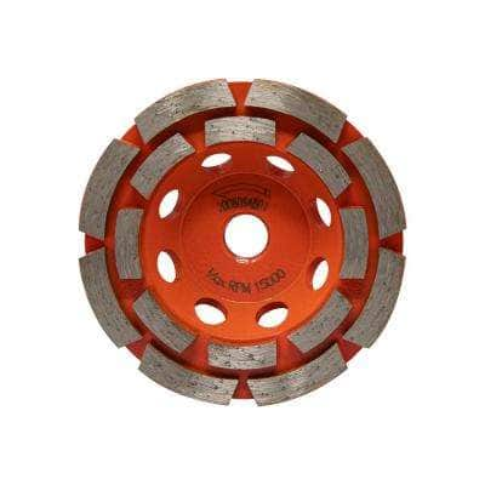 4 in. Double Row Diamond Cup Wheel
