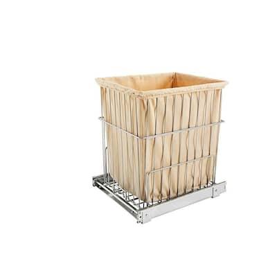 Rev A Shelf HRV-1520 S CR Wire Pullout Cabinet Laundry Hamper Basket (2-Pack)