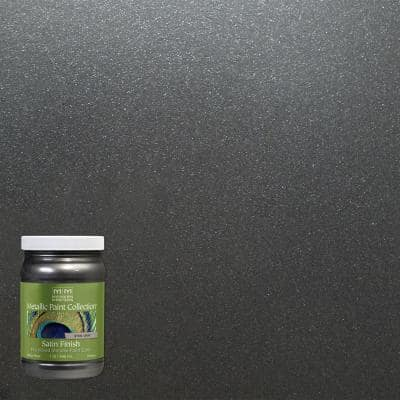 1 qt. Steel Gray Water-Based Satin Metallic Interior Paint