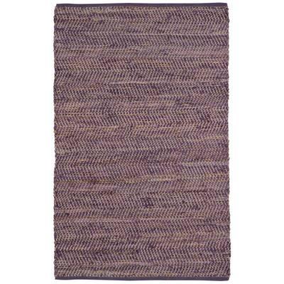Purple Jeans Denim / Hemp 9 ft. x 12 ft. Area Rug