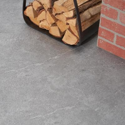 Sandstone Gray 12 in. x 24 in. Waterproof Rigid Core Click-Lock Luxury Vinyl Tile Flooring (28.04 sq. ft. / case)