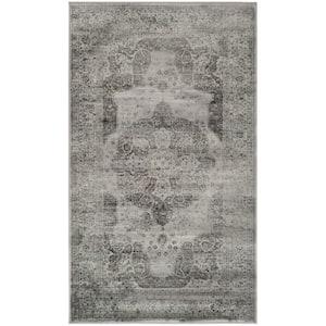Vintage Gray/Multi 3 ft. x 6 ft. Border Area Rug
