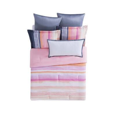Sunset Stripe King Duvet with Pillow Shams