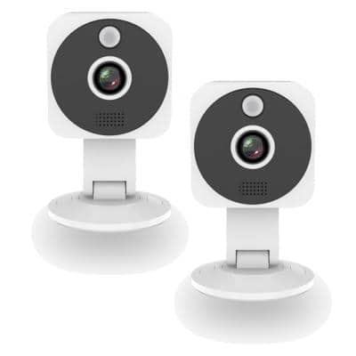 1080p Full HD Wireless Indoor Security Camera (2-Pack)
