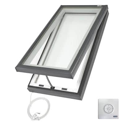 22-1/2 in. x 46-1/2 in. Fresh Air Electric Venting Curb-Mount Skylight with Laminated Low-E3 Glass