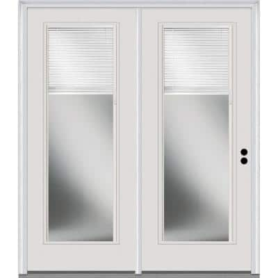 TRUfit 71.5 in. x 79.5 in. Left-Hand Internal Blinds Dual Pane Clear Low-E Glass Primed Steel Double Prehung Patio Door