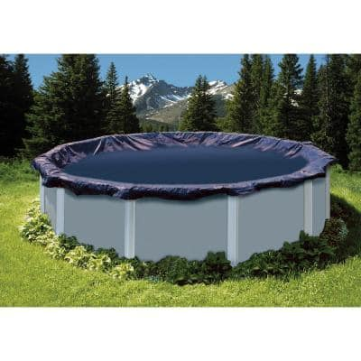 24 ft. Round Blue Above Ground Swimming Pool Winter Cover