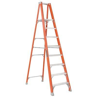8 ft. Fiberglass Platform Step Ladder with 300 lbs. Load Capacity Type IA Duty Rating