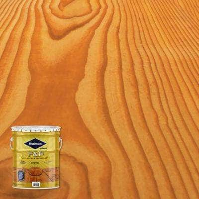 5 gal. F&P Golden Pine Exterior Wood Stain Finish and Preservative