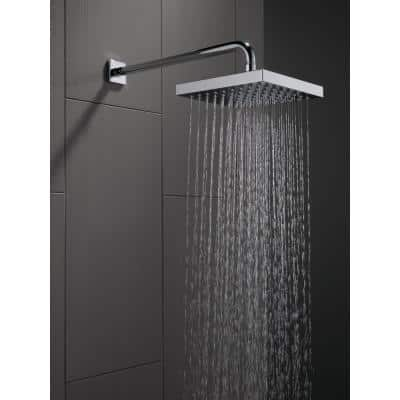 1-Pattern 8 in. Wall Mount Rain Fixed Shower Head in Chrome