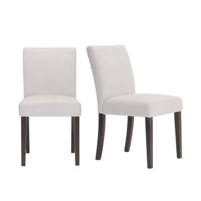 Banford Sable Brown Wood Upholstered Dining Chair with Riverbed Brown Seat (Set of 2) (17.9 in. W x 34.44 in. H)