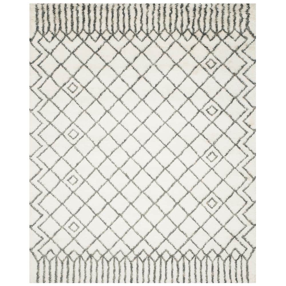 Safavieh Casablanca Ivory Gray 8 Ft X 10 Ft Area Rug Csb894c 8 The Home Depot
